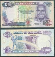 ZAMBIA 1991 100 KWACHA P34 UNC  -G - Zambia