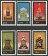 Germany DDR 1975 Historical Clocks Clock Antique Museums Museum Art Stamps MNH Scott 1655-1660 Michel 2055-60 - Clocks