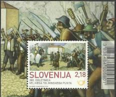 SI 2013-1001 TOLMIN PAESANT REVOLT, SLOVENIA, S/S, MNH - Militaria