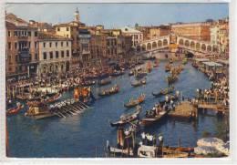 VENEZIA - Canal Grande E Ponte Di Rialto - Regata Storica - 1970 SHIP - Bateaux