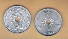 LAOS -  20 Cents  1952  KM5 - Laos