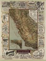 CPM - Carte De Californie - Routes Pour Cyclistes  - Publicités Pour Vélos - Cyclisme