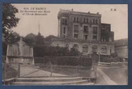 93 SEINE ST DENIS - CP LE RAINCY - LE MONUMENT AUX MORTS ET L'ECOLE MATERNELLE - E. M. N° 6454 - Le Raincy