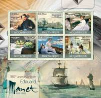 M12329a Mozambique 2012 Painting Edouard Manet Impressionism S/s Ship Yvert&Tellier: 5035-5040 - Impressionisme