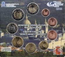 SPANJE - WORLD MONEY FAIR SET 2013 - 9 MUNTEN - OPLAGE SLECHTS 2500 EX. - España