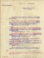 MONS CANON LEGRAND  Offre De L'ecartement De 0m700.....16.08.1912 - Belgique