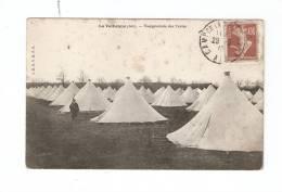 CPA : 01 - La Valbonne : Camp : Vue Générale Des Tentes : Tentes Avec Une Sentinelle - Caserme