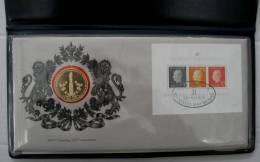 Le Medaillier Franklin 1976 Numismatische Eerste Dag Omslag L'enveloppe Timbre-medaille Sterling Silver (925/1000) - Monnaies & Billets
