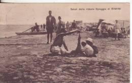 45-Rimini-Emilia Romagna-Saluti Dalla Ridente Spiaggia-v.1926 X Messina-Sicilia-Annullo Rimini (Forlì). - Rimini