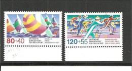 DSP2287/ BRDMi.Nr.1310-11**/ (1987) Sport (Ski/Segelregatta), Unterrandsatz - BRD