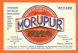 """Buvard  """"  Huile De Foie De Morue - Morupur    """"  Pour Bestiaux Et Vollailles - Agriculture"""