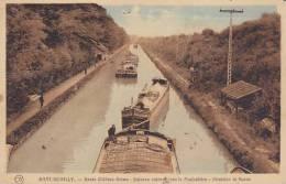 51 - Mont-de-Billy - Route Châlons-Reims - Bateaux Entrant Sous Le Funiculaire (peu Vue Animée) - Other Municipalities