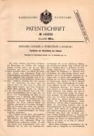 Original Patentschrift - E. Gogler In Podgórze B. Krakau ,1901, Herstellung Von Zement , Cement , Beton , Bau , Maurer ! - Historische Dokumente
