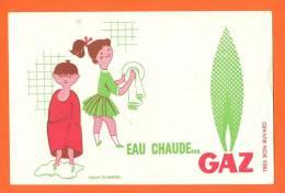 """Buvard  """"  Eau Chaude - Gaz  """"  Illustre Fix - Masseau - Electricité & Gaz"""