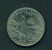 USA - 2001 25c Circ (Rhode Island) - 1999-2009: State Quarters