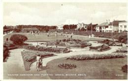 Bognor Regis. Marine Gardens And Putting Green. - Bognor Regis
