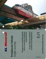 MALAYSIA - 2008- KL MONORAIL - SKY TRAIN - MINT UNUSED - Metropolitana