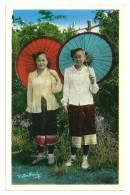 Indochine Laos Xieng-Khouang Jeunes Filles Laotiennes. (+300 CPA Sur L'Indochine En Cours) - Laos