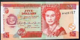 BELIZE   P67c 5  DOLLARS 2007 #DF    UNC. - Belize