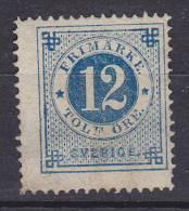 Sweden 1872 Mi. 22 A     12 Ö Ziffern Und Kronen Im Kreis Perf. 14 (2 Scans) MNG !! - Neufs