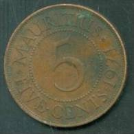 MAURITIUS 5 CENTS 1971 - Laura8403 - Mauricio