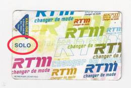 Carte De Bus : Régie Des Transports De Marseille. Solo. (Voir Commentaires) - Bus