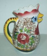 Italy ° - Pichet Au Coq - Rooster Pitcher - Haan Kan - Hahn  (PR165) - Céramiques