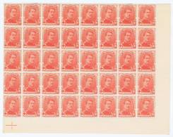 Belgium: OBP Nr 130 Part Of Sheet , MNH, 2 Stamps Are Hinged, 40 Pieces. - 1914-1915 Red Cross