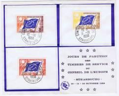 France: Conseil De L'Europe 1958 - FDC