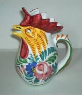 Italy ° - Pichet Au Coq - Rooster Pitcher - Haan Kan - Hahn  (PR166) - Céramiques
