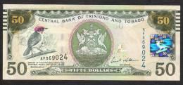 TRINIDAD AND TOBAGO  P50 50 DOLLARS  ND (2012), Prefix AF ,  UNC. - Trinité & Tobago