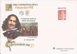 ESPAGNE SPAIN ESPANA ENTIER POSTAL STATIONERY GANZSACHE GS DIEGO VELAZQUEZ RENDICION DE BREDA REDDITION 1998 ART PEINTRE - Impressionismo