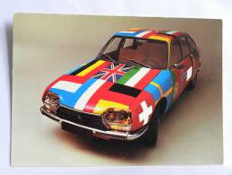 CPM - La GS Triomphe En Europe - Garage Meyrignac, Lucien Dalaby, Citroên Carte Commerciale (drapeaux) - Turismo