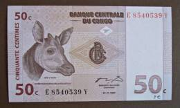 Banknote Papermoney REPUBLIQUE DEMOCRATIQUE DU CONGO 50 CENTIMES - Congo
