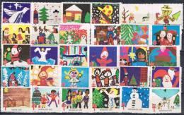 30 Viñetas Navidad Pro Tuberculose Estados Unidos, Diferentes ESTADOS 1975 ** - Variedades, Errores & Curiosidades