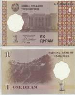 TAJIKISTAN 1999 1 DIRAM P10 UNC -G - Tadjikistan