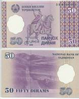 TAJIKISTAN 1999 50 DIRAM P13 UNC -G - Tajikistan