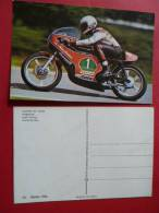 12 Moto Pilote Walter VILLA Harley Davidson  Courses  Route NON Circulee  Editee 1976 Motos Course Competition - Motorbikes