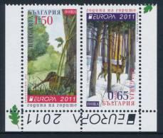 "BULGARIA/Bulgarien EUROPA 2011 ""Forests"" Booklet Set Of 2v** - Europa-CEPT"