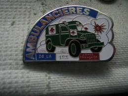 Pin´s Ambulancieres De La 1ere Armée Francaise - Army