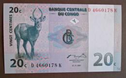 Banknote Papermoney REPUBLIQUE DEMOCRATIQUE DU CONGO 20 CENTIMES - Congo