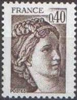 France Sabine De Gandon N° 2118,** Le 0.40 Fr Brun Foncé - 1977-81 Sabine (Gandon)