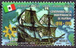 Amitié Mexique-Philippines.emission Conjointe Mexique_Philippines. 1 T-p Neuf **. - Messico