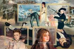 Slm13117a Solomon Is. 2013 Edouard Manet S/s Painting Realism Impressionism Horse - Impressionisme