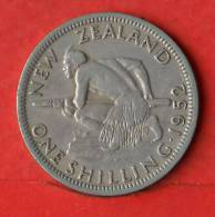 NEW ZEALAND  1  SHILLING  1952   KM# 17  -    (1648) - New Zealand