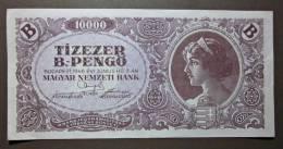 Banknote Papermoney Ungarn Magyar Gebraucht 10000 Pengö 1946 Gebr. - Hungary