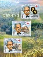 Gu12302a Guinea 2012 Albert Schweitzer S/s Red Cross Nobel Prize Coin Michel: 9264-9266 - Albert Schweitzer