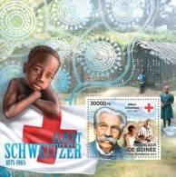 Gu12302b Guinea 2012 Albert Schweitzer S/s Red Cross Michel: 9267 / Bl.2105 - Albert Schweitzer