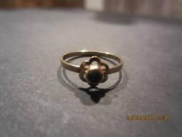 Gouden Ring 14kt Met Aquamarijn, Maat 5. - Bagues