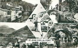 64 - SAINT-JEAN-PIED-DE-PORT - Maions Basques - La Nive - Vue Générale - Pont Romain D'eyhérabern (CAP. 97) - Saint Jean Pied De Port
